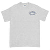 Canal Cafe Short Sleeve T Shirt Grey Last Beer on Cape Cod on front, Canal Cafe Bridge front
