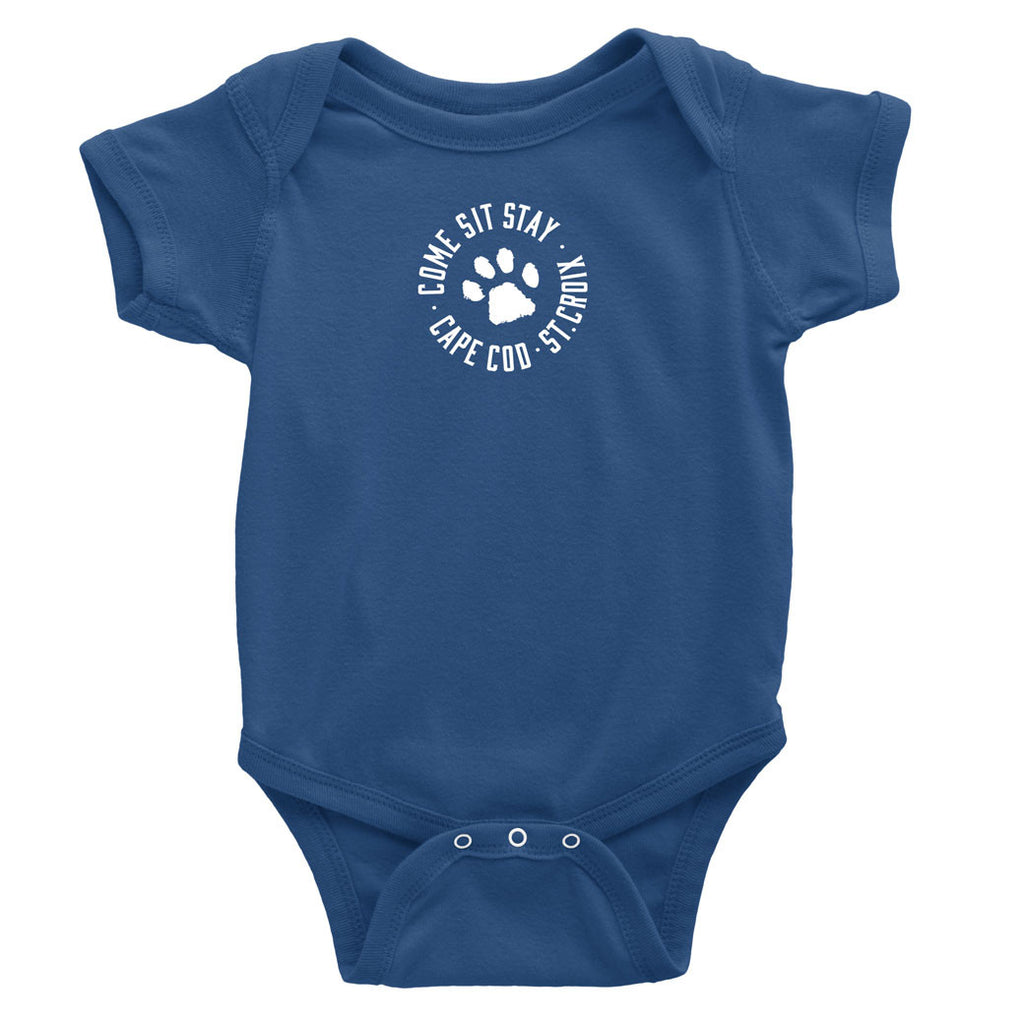 Lost Dog Pub Baby + Toddler Onesie Indigo