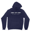 Lost Dog Pub Youth Hoodie Old Dog on Back / Come Sit Stay Front Navy Blue