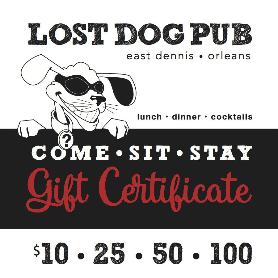 Lost Dog Pub Gift Certificate