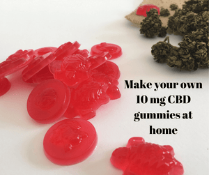How to make 10 mg CBD gummies at home for less than a 1£ each?