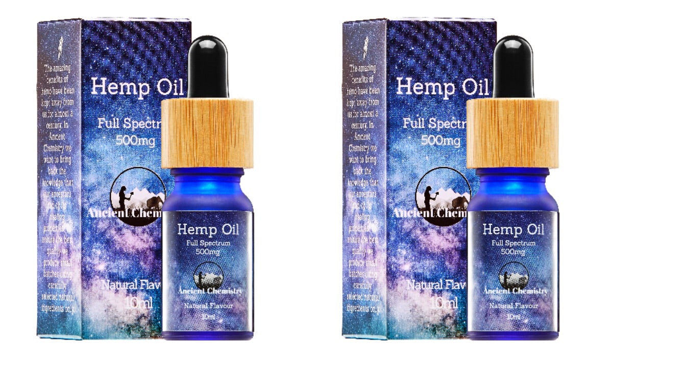 Pack of 2 CBD Oils from hemp extract 5% 10ml bottle