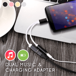 Dual Music & Charging Adapter
