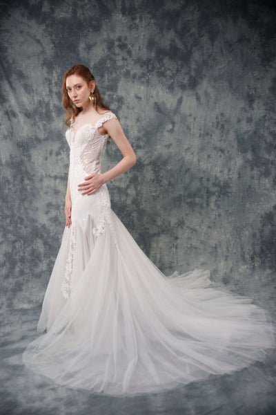 Hochzeitskleid aus Tüll Mermaid Stil Valetudo Berlin Princess-look wedding gown