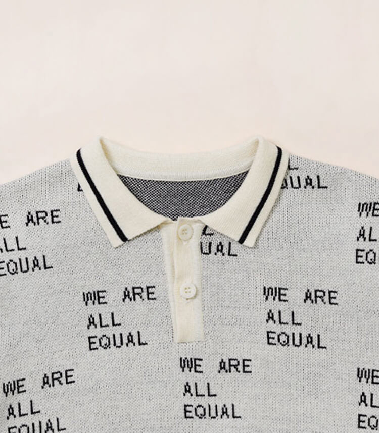 Kinder Polo Shirts Tops hellgrau we are all equal  gelb löwe karamell unisex