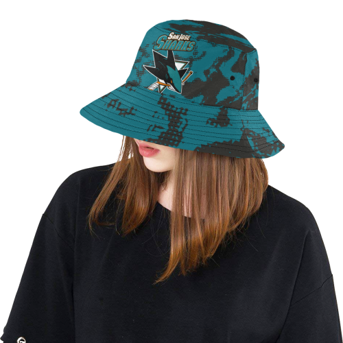 7f29941b4a7 NHL - San Jose Sharks All Over Print Bucket Hat