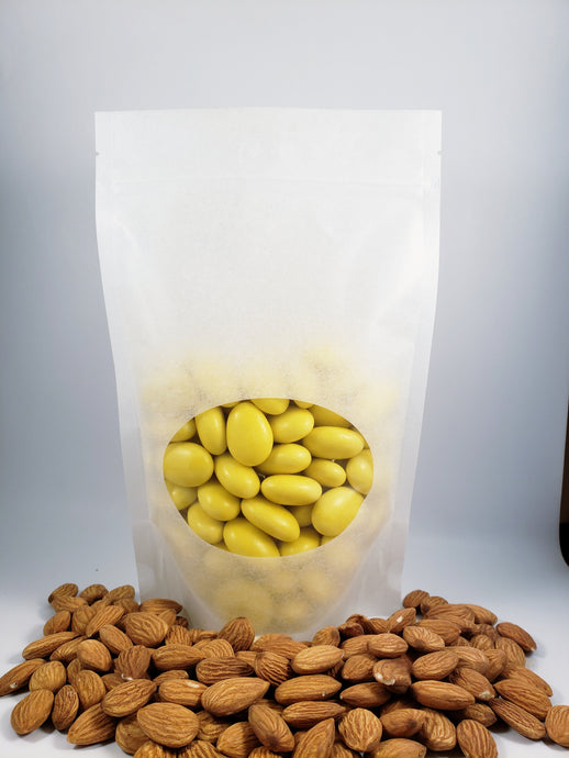 Sugared Almond Confetti Candy - Yellow 1 lbs