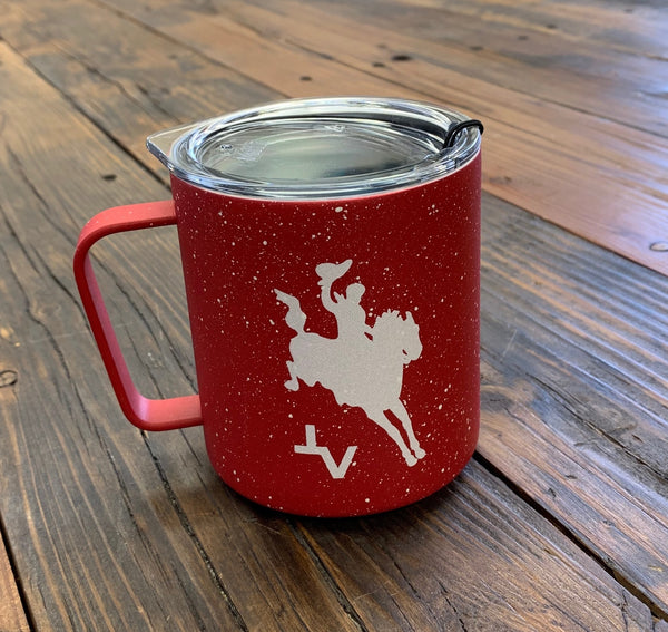 TVRC Red Speckled Camp Mug