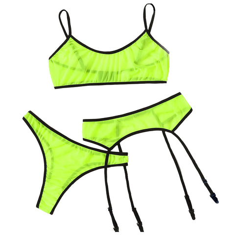 FLOURESCENT GREEN 3 PC SET