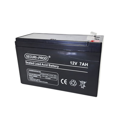 Securi-prod 12V-7AH battery for gate motors, alarm systems and CCTV.