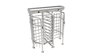 FHT2322D-RFID+FP Three Arm Full Height Double Turnstile