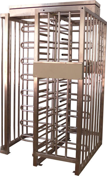 AutoGate Bi-directional free standing full height Single Turnstile with galvanized frame and Spindle