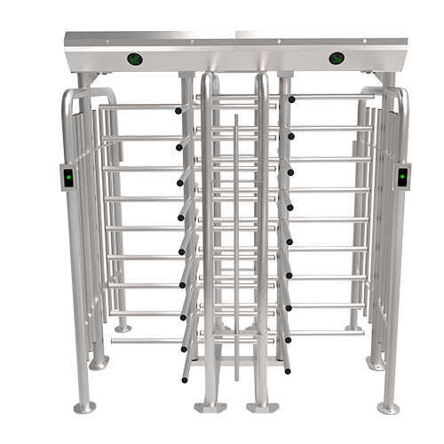 FHT2411D-RFID Four Arm Full Height Double Turnstile