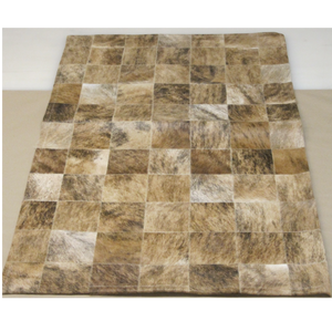 Patchwork Brindle Leather Rug