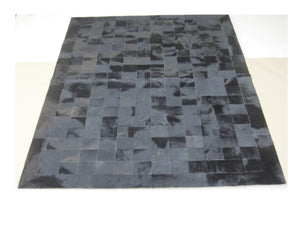 Black Hair on Hide Rug