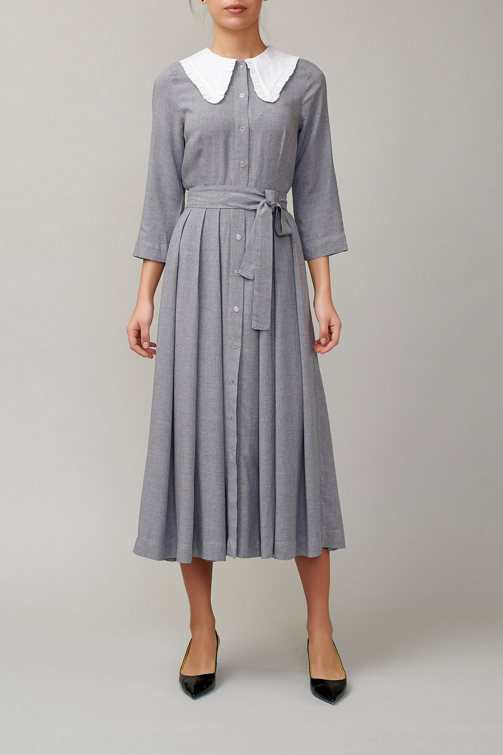 Light Gray Viscose shirt dress MM 1705