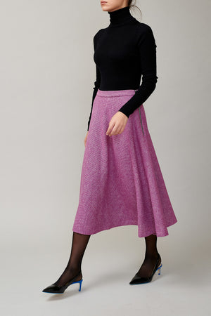 Magenta tweed skirt MM 1707