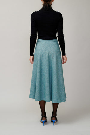 Green tweed skirt MM 1707