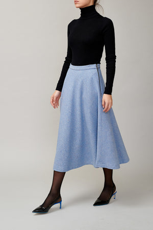 Blue tweed skirt MM 1707