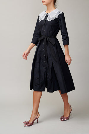 Black Taffeta Dress MM1710