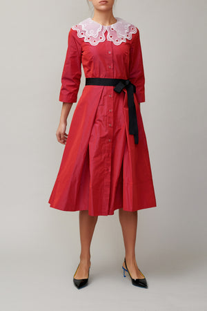 Cherry Taffeta Dress MM1710
