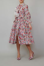Load image into Gallery viewer, Poplin dress with jabo and ruffles