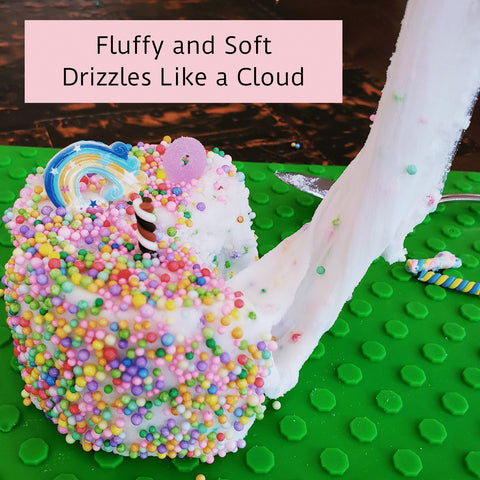 Super Fluffy Slime - Best Cloud Slime for Kids - Scented Slime for Girls - Premade Slime Kit Add Your Favorite Slime Charms and Supplies (Birthday Cake Scented) Jumbo Size - Made in USA
