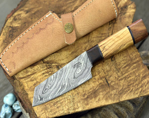 "Personalised, knife, chef's knife, chef knife, DAMASCUS KNIFE,DAMASCUS steel knife utility pairing knife 8.5"" 3490-1 chef-Shokuninknives"