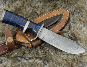 "9.0"" custom, Damascus knife with Composite fiber handle hunting knife / tactical / survival / custom / personalize Damascus steel knife-Shokuninknives"