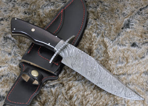 Personalize Hand forged damascus steel hunting knife CLASSIC BOWIE KNIFE SM5 Damascus steel knife damascus knife-Shokuninknives