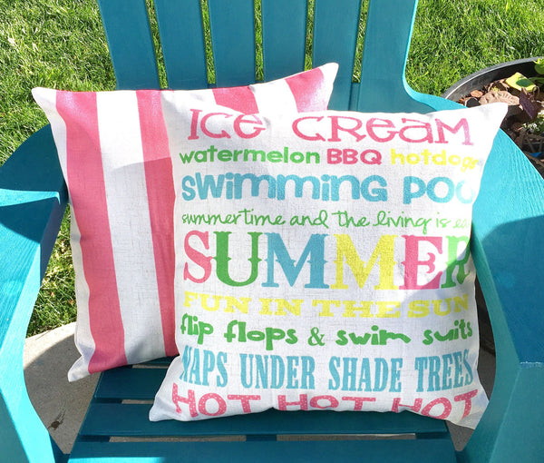 Summer Words - pillow cover