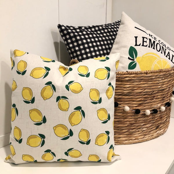 Lemon Pattern - pillow cover