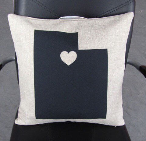 I Heart UTAH - pillow cover