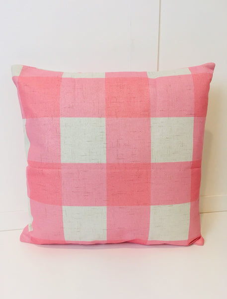 Pink Checkered - pillow cover