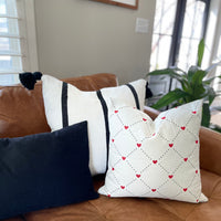 Quilted Heart Pattern - Pillow Cover