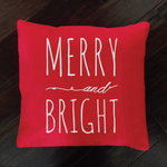 Merry and Bright - pillow cover