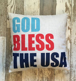 God Bless the USA - pillow cover