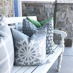 Grey Snowflake - pillow cover