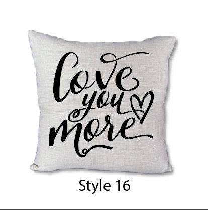 Love You More - pillow cover