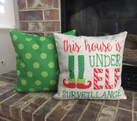 Green Dots - pillow cover