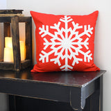 Red Snowflake - pillow cover
