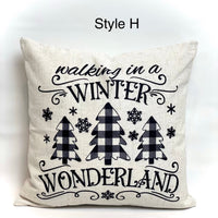 Walking in a Winter Wonderland - pillow cover