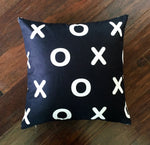 Black XOXO - pillow cover