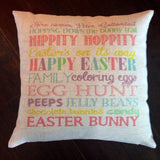 Easter Subway Art - pillow cover