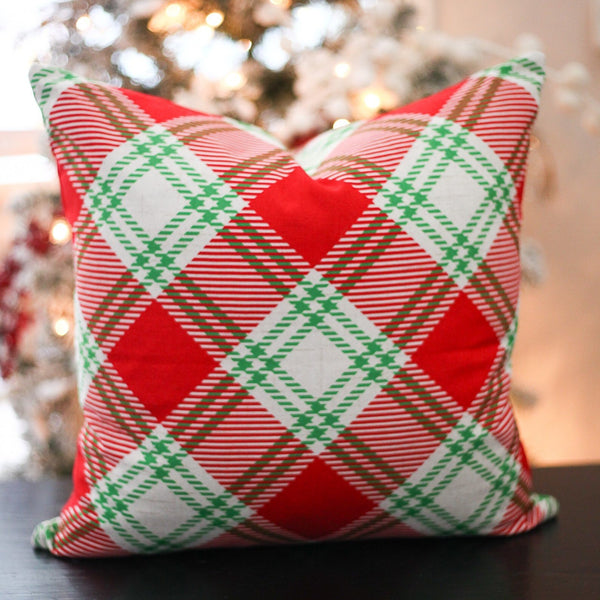 Christmas Plaid - pillow cover