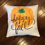 Happy Fall Pumpkin - pillow cover