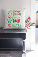 In This Home Christmas - pillow cover