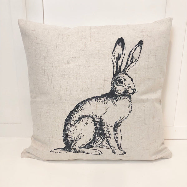 Sketched Bunny - pillow cover