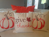 Give Thanks - pillow cover