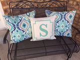 Custom Monogram Pillow Cover (Style: Stone) 43 color options
